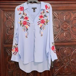 INC Embroidered Tunic